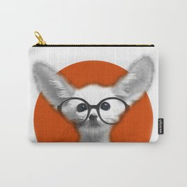 Fennec Fox wearing glasses Carry-All Pouch