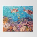 Zach's Seascape - Sea turtles by krisfairchild