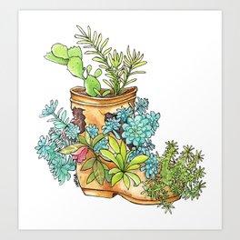 Nature boot Art Print