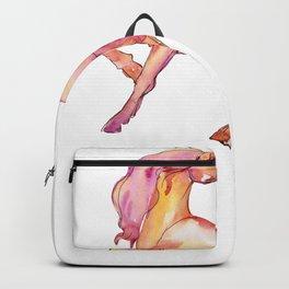 Watercolor Unicorn Pretty Unicorn Illustration Backpack
