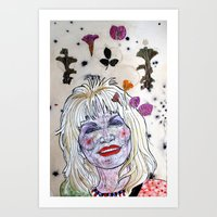 dolly parton Art Prints featuring D. Parton by Lauren Over