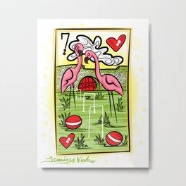Flamingo Card 3-2-14 Metal Print