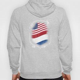 Dutch American Flag Hoody