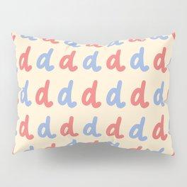 Minuscule Letter D Pattern Pillow Sham