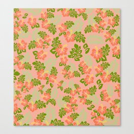 Hawaiian Pattern - Pink Canvas Print