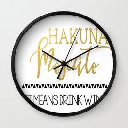 Hakkuna Moscato Wall Clock