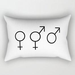Symbol of Transgender 53 Rectangular Pillow