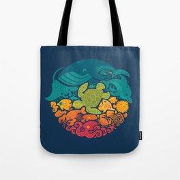 Aquatic Rainbow Tote Bag