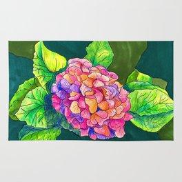 Rainbow Hydrangea Rug