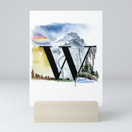 W is for Weather Mini Art Print