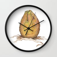 egg Wall Clocks featuring Egg by Joey Wall