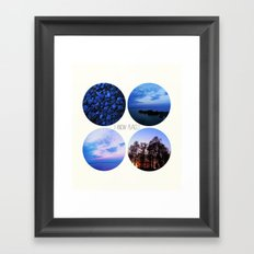 I Know Places Framed Art Print