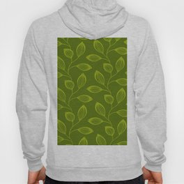 Climbing Leaves In Olive Green on Moss Hoody