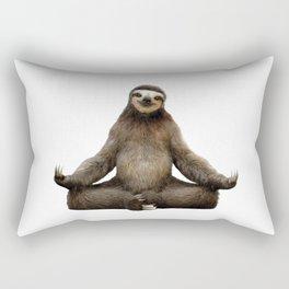 Sloth Yoga Art Print Rectangular Pillow