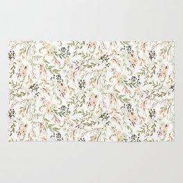 Dainty Intricate Pastel Floral Pattern Rug