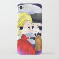 ouat iPhone & iPod Cases featuring OUAT - Chibi Captain Swan Dance by Yorlenisama