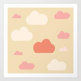 Cloud pink Art Print