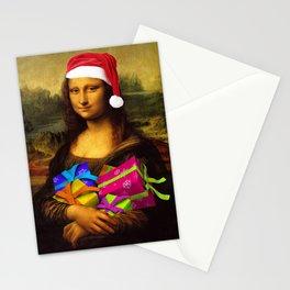 Mona Lisa Santa Claus Stationery Cards