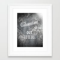 adventure is out there Framed Art Prints featuring Adventure by Zach Terrell