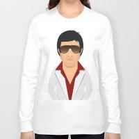 montana Long Sleeve T-shirts featuring Tony Montana by Capitoni