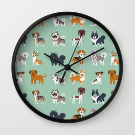 NORDIC DOGS Wall Clock