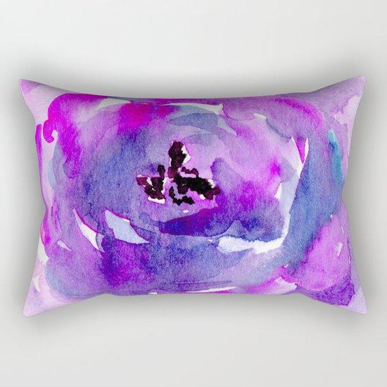 Purple pink flower Rectangular Pillow