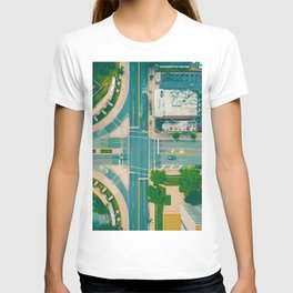 The City From Above (Color) T-shirt