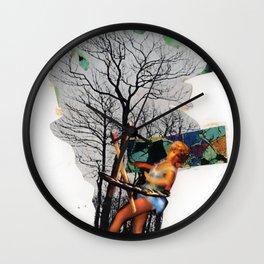 Rape of Aurora | Collage Wall Clock