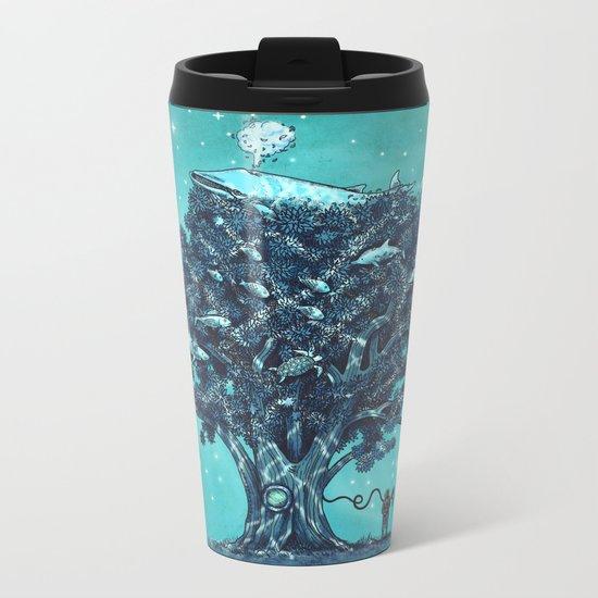 Deep Tree Diving  Metal Travel Mug