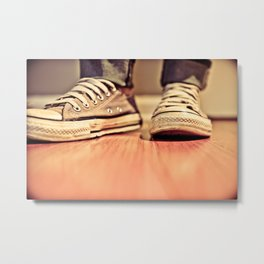 Low Chucks Metal Print