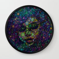 selena Wall Clocks featuring Beautiful Selena  by Amy Anderson