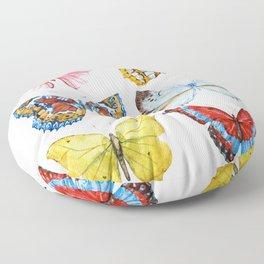 Butterflies 01 Floor Pillow