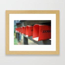 Orange Paper Tubes Framed Art Print
