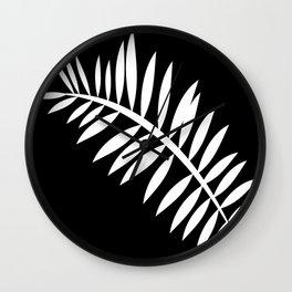 PALM LEAF WHITE LEAF Wall Clock