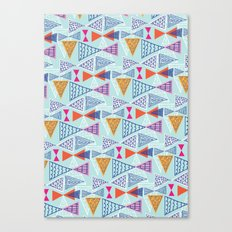 Geometric Mid Century Modern Triangles 2 Canvas Print