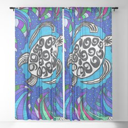 Sea Turtle Sheer Curtain