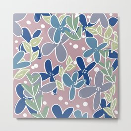 Cutesy Flowers Metal Print