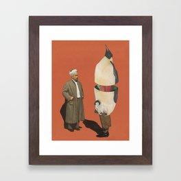 Man and Penguin   Framed Art Print
