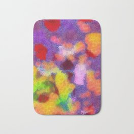 Abstract Art by Tito: Bright Emotions Bath Mat