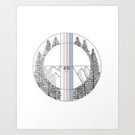 Colorado Geometric Art Art Print