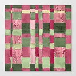 Weaver's Dream / Geometric Meets Floral Canvas Print