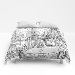 New York! B&W Comforters