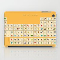 periodic table iPad Cases featuring Periodic table of the elements by AnneKarine