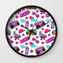 Retro pattern Wall Clock