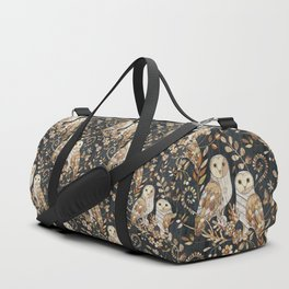 Wooden Wonderland Barn Owl Collage Duffle Bag