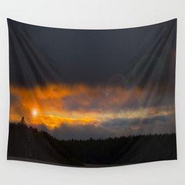 October Cloudy Sunset #decor #buyart #society6 Wall Tapestry