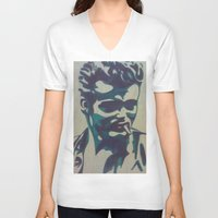 james franco V-neck T-shirts featuring James by Artistry by Briana