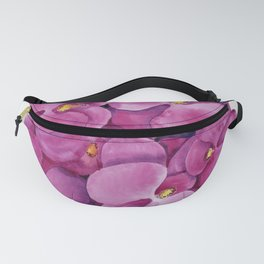 Watercolour Orchid Bloom Fanny Pack