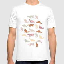 cats pattern T-shirt