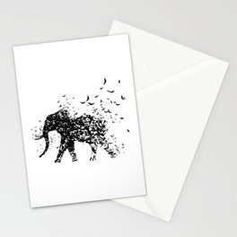 Save the Elephants fading away Stationery Cards